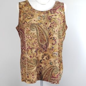 Liz Claiborne Silk Paisley Tank Top, size 12